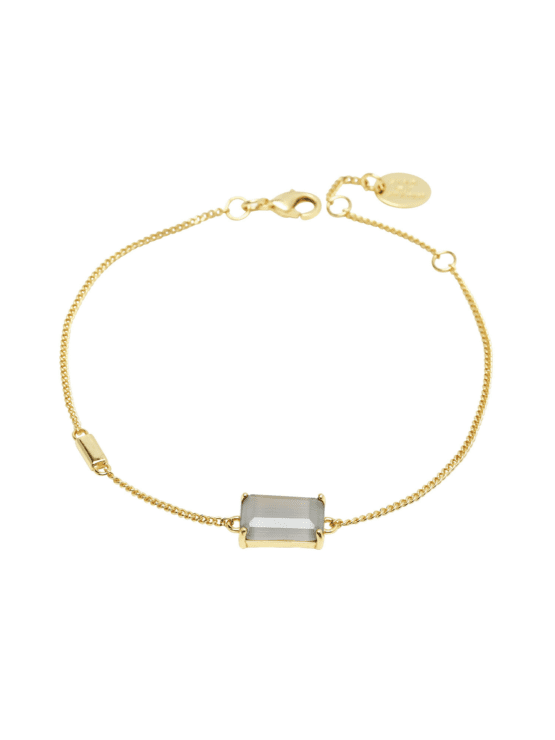 Jet Set | Armband | Gracy gray guld