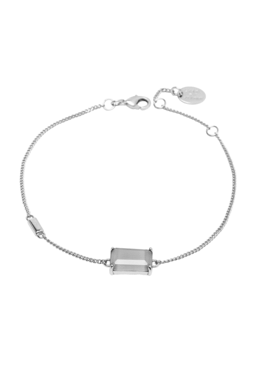 Jet Set | armband | Gracy gray silver