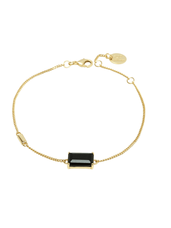 Jet Set | bracelet | dark mystery gold