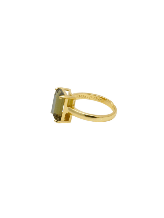 Say Yes! | Ring |Chocolate brown guld