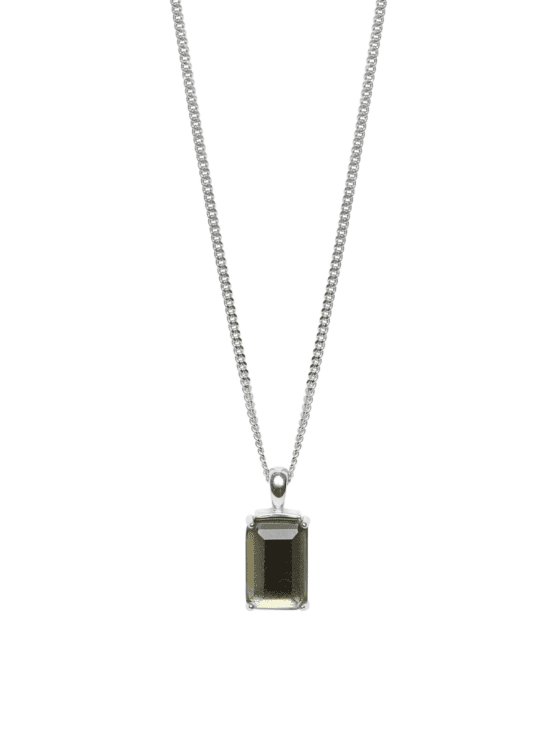 Be Dazzled! | Necklace | Chocolate brown silver