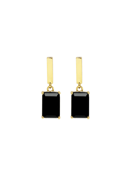 Recdangle | Earrings | Dark mystery gold